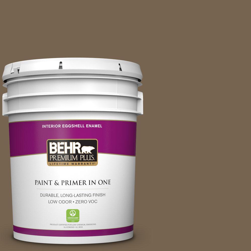 5 gal. #BNC-35 Ground Pepper Zero VOC Eggshell Enamel Interior Paint