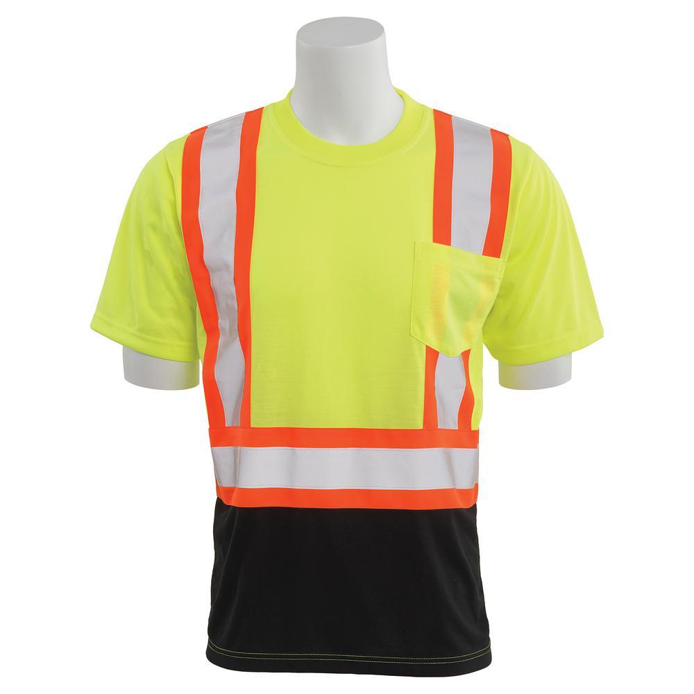 9604SBC 2X-Large HVL/Black Polyester Safety T-Shirt