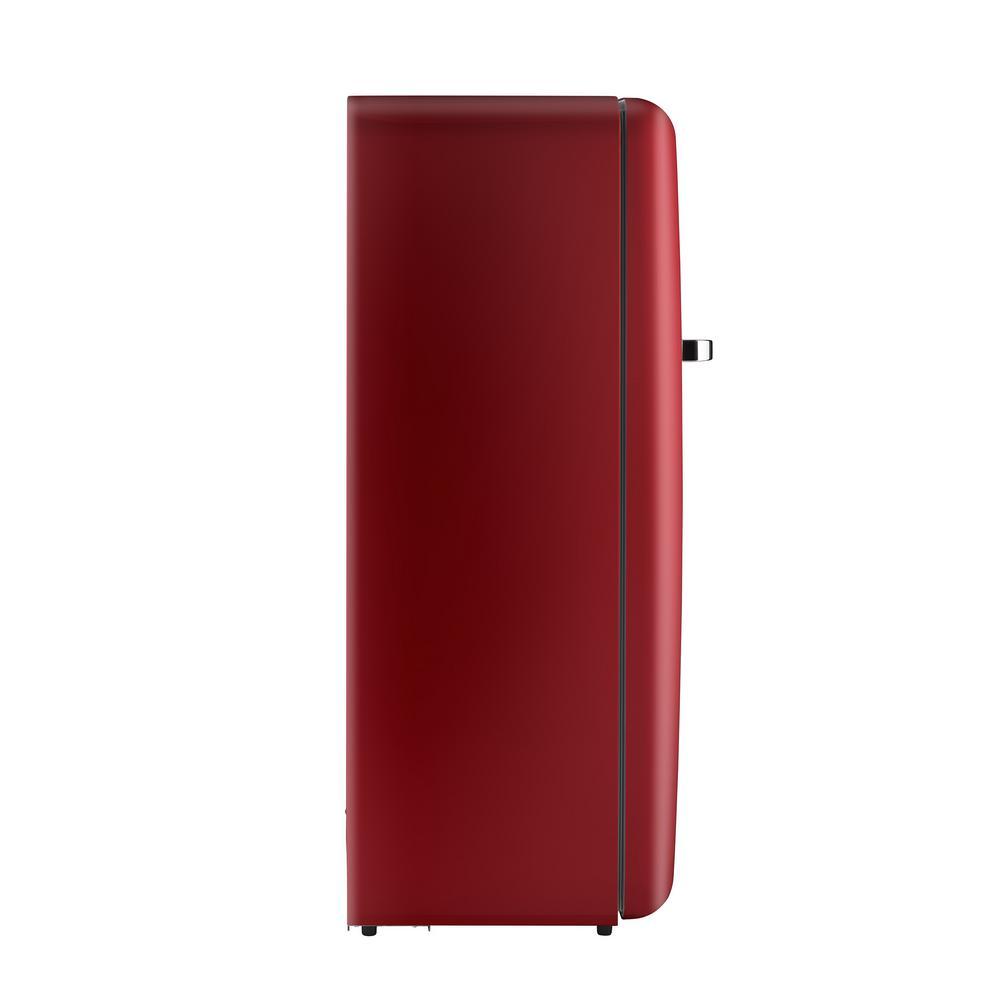 24 in. 10 cu. ft. Retro Top Freezer Refrigerator in Red, Counter Depth