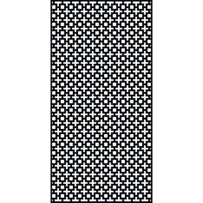 Sahara 0.3 in. x 95.6 in. x 3.95 ft. Recycled Plastic Decorative Screen in Slimline Frame in Charcoal (Bundle of 5)