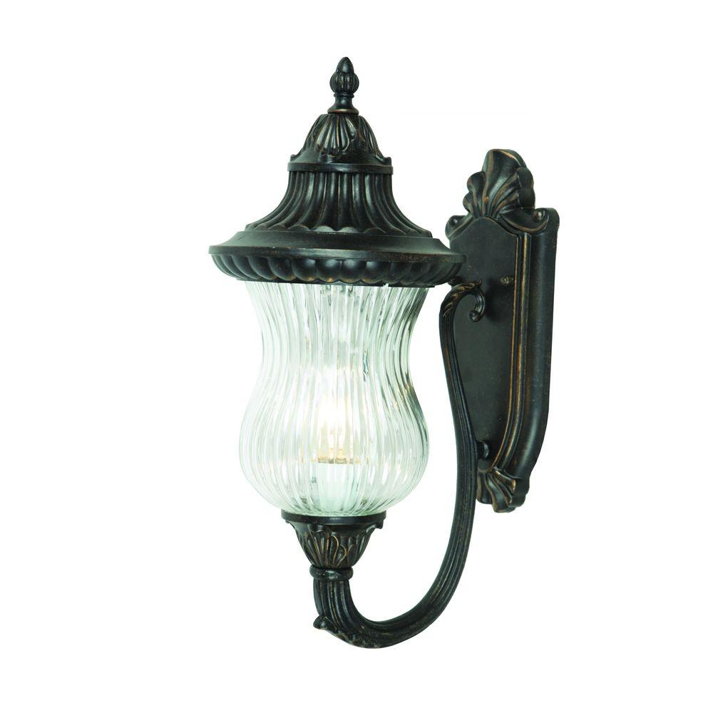 Matteo Collection 2 Light Oil Rubbed Bronze Outdoor Wall Mount Lamp