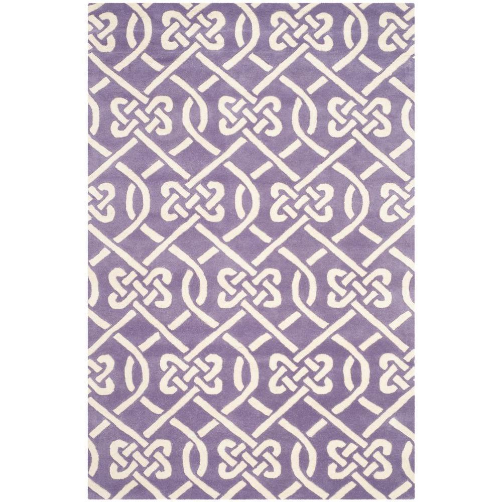 Chatham Purple/Ivory 4 ft. x 6 ft. Area Rug