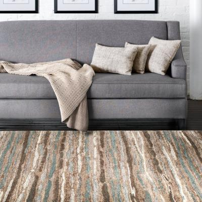 Shoreline Multi 5 ft. x 7 ft. Striped Area Rug