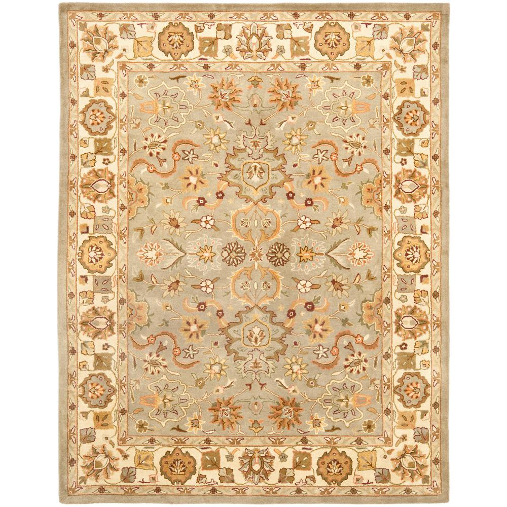 Heritage Light Green/Beige 8 ft. 3 in. x 11 ft. Area