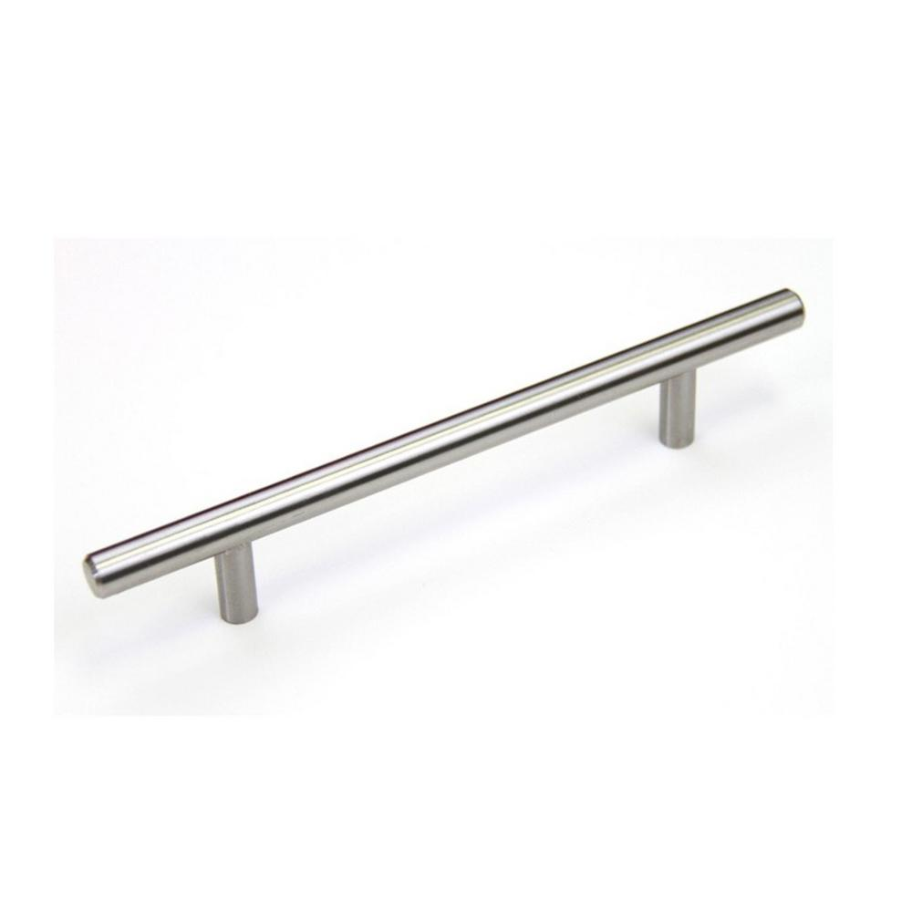 Kingsman Hardware Euro 6-1/4 in. (159 mm) Center-to-Center Solid Stainless Steel Drawer Pull Cabinet Handle (50-Pack)