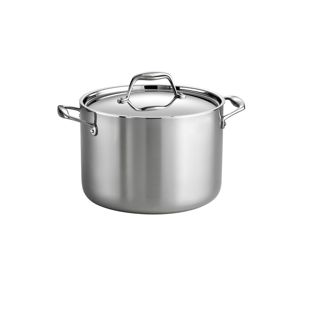 Tramontina Gourmet Tri Ply 8 Qt Stainless Steel Stock Pot With Lid