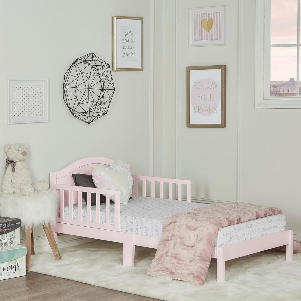 Dream On Me Sydney Blush Pink Toddler Adjule Bed