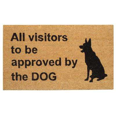 18 in. x 30 in. Approval by Dog Super Scraper Door Mat