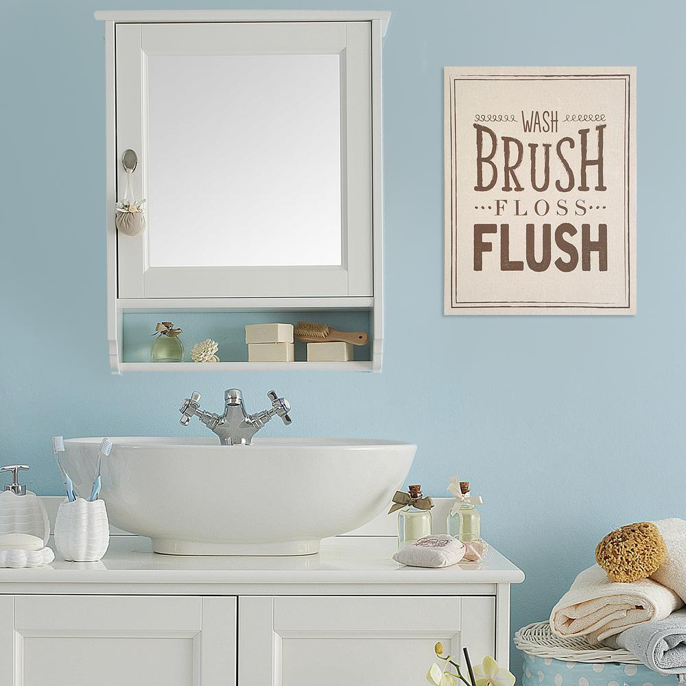 Stratton Home Decor 14 In. X 18 In. Bathroom Rules Wall Art