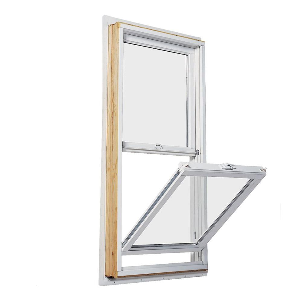 Andersen Windows Reviews >> Andersen 35 5 In X 56 5 In 200 Series Double Hung Wood Window With White Exterior