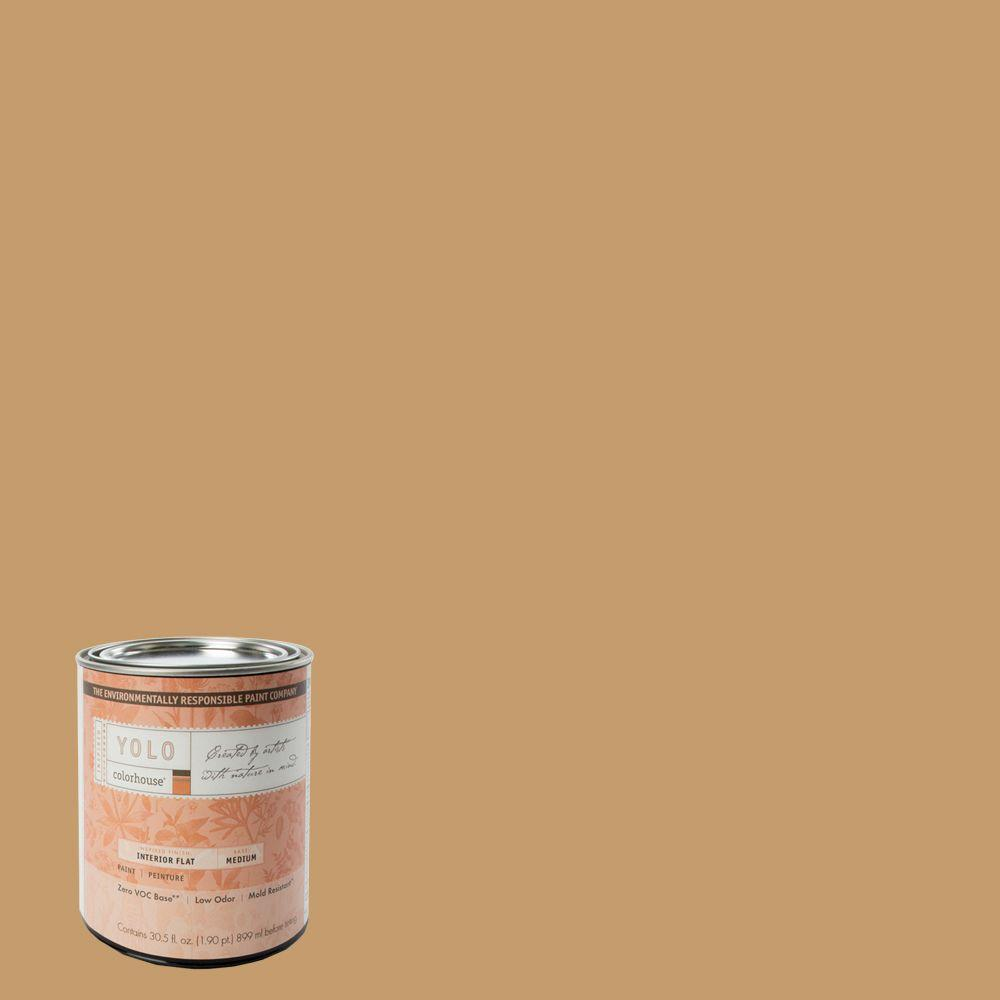 YOLO Colorhouse 1-Qt. Clay .01 Flat Interior Paint-DISCONTINUED