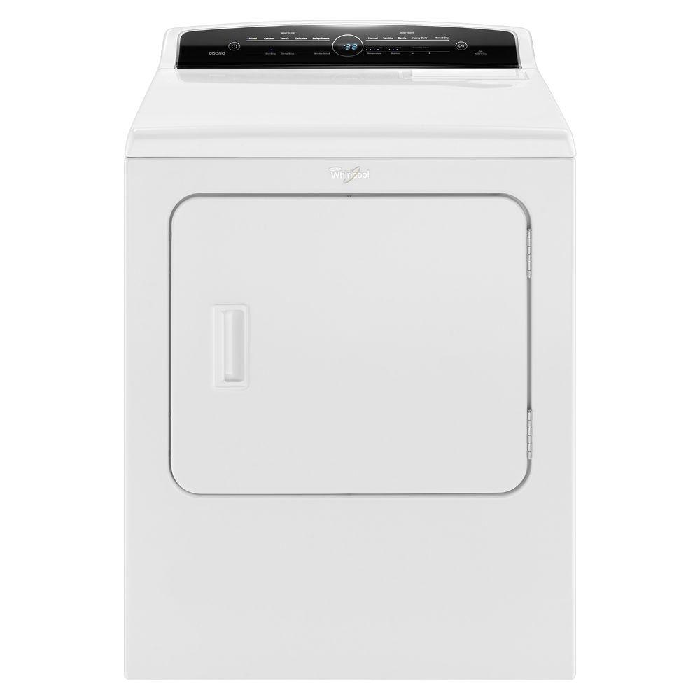 Whirlpool 7.0 cu. ft. 240-Volt High-Efficiency White Electric Vented Dryer with AccuDry and Intuitive Touch Controls