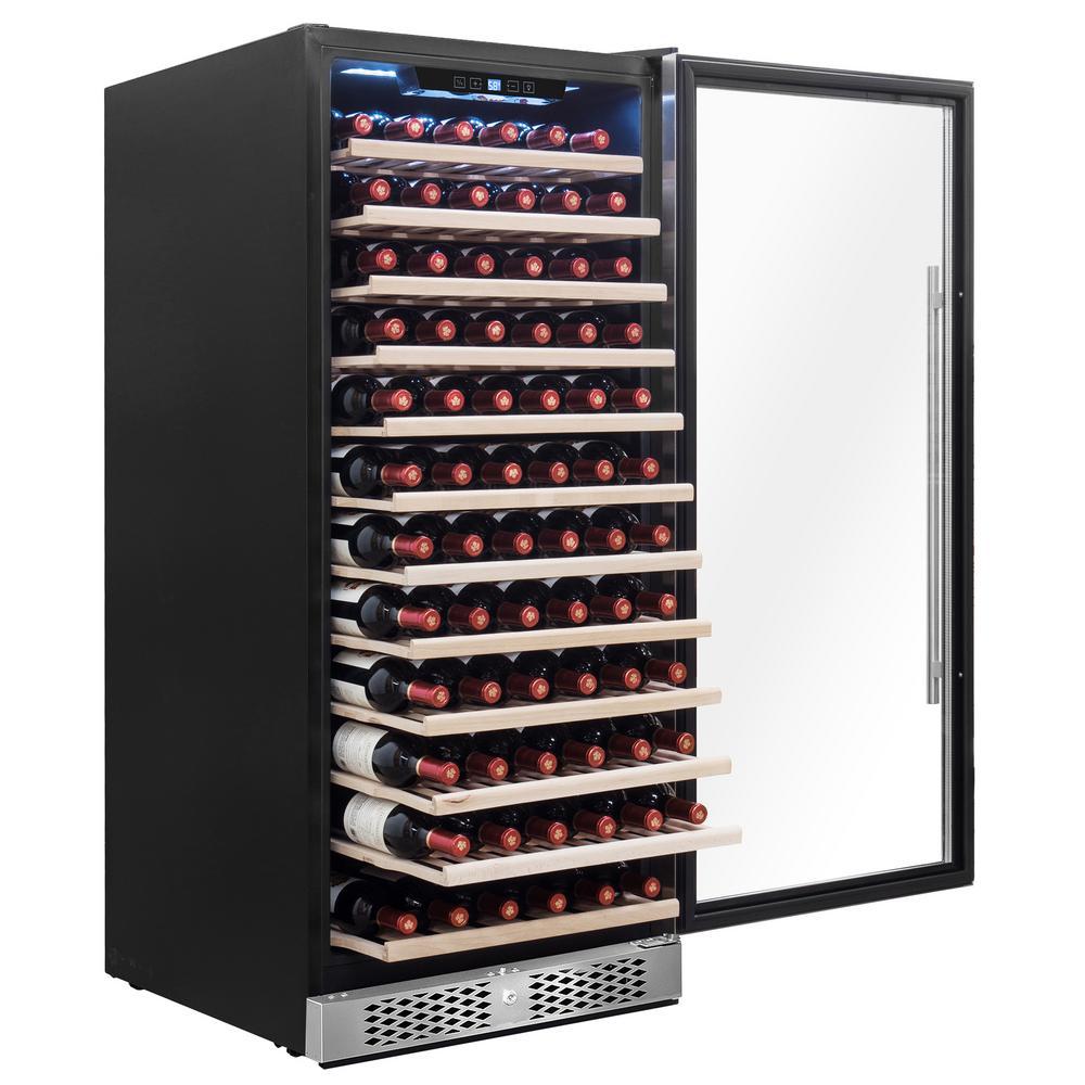23.5 in. 127-Bottle Wine and 254-Can Built-in Compressor Beverage Cooler