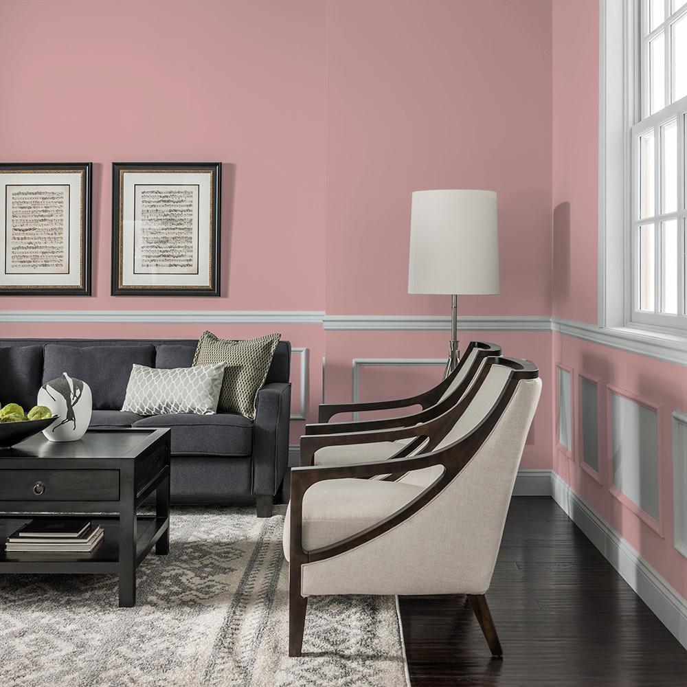 Reviews For Glidden Essentials 5 Gal Ppg1055 4 Pepperberry Flat Interior Paint Ppg1055 4e 05f The Home Depot
