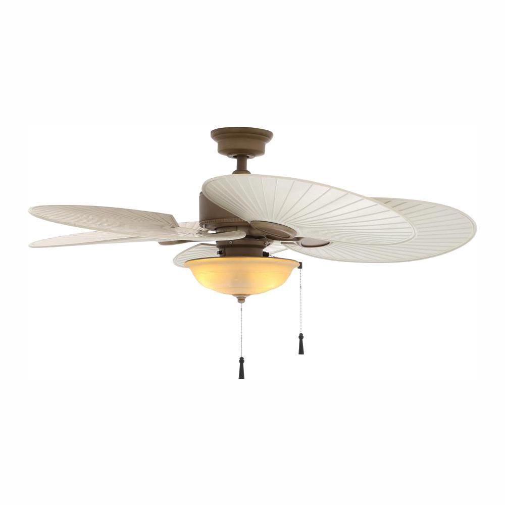 Hampton Bay Havana 48 in. LED Indoor/Outdoor Cappuccino Ceiling Fan with Light Kit