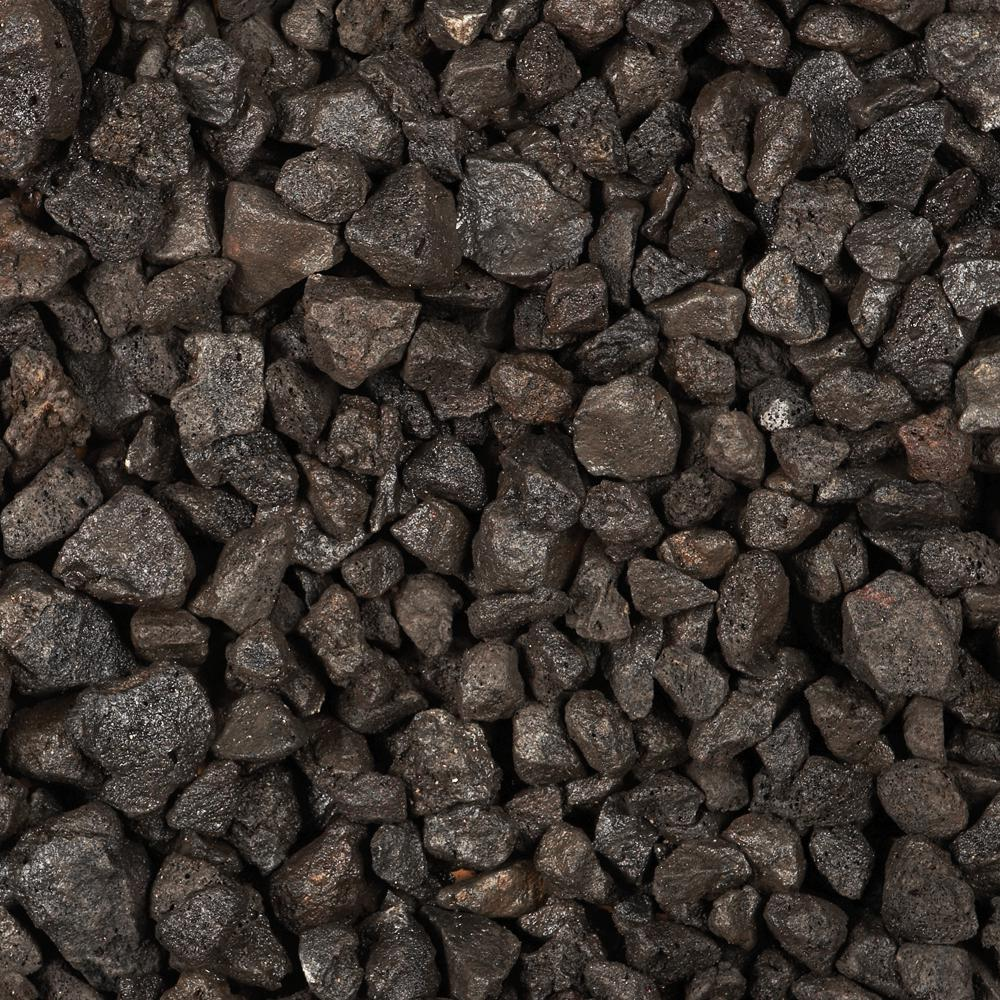 0.5 cu. ft. Black Volcanic Rock