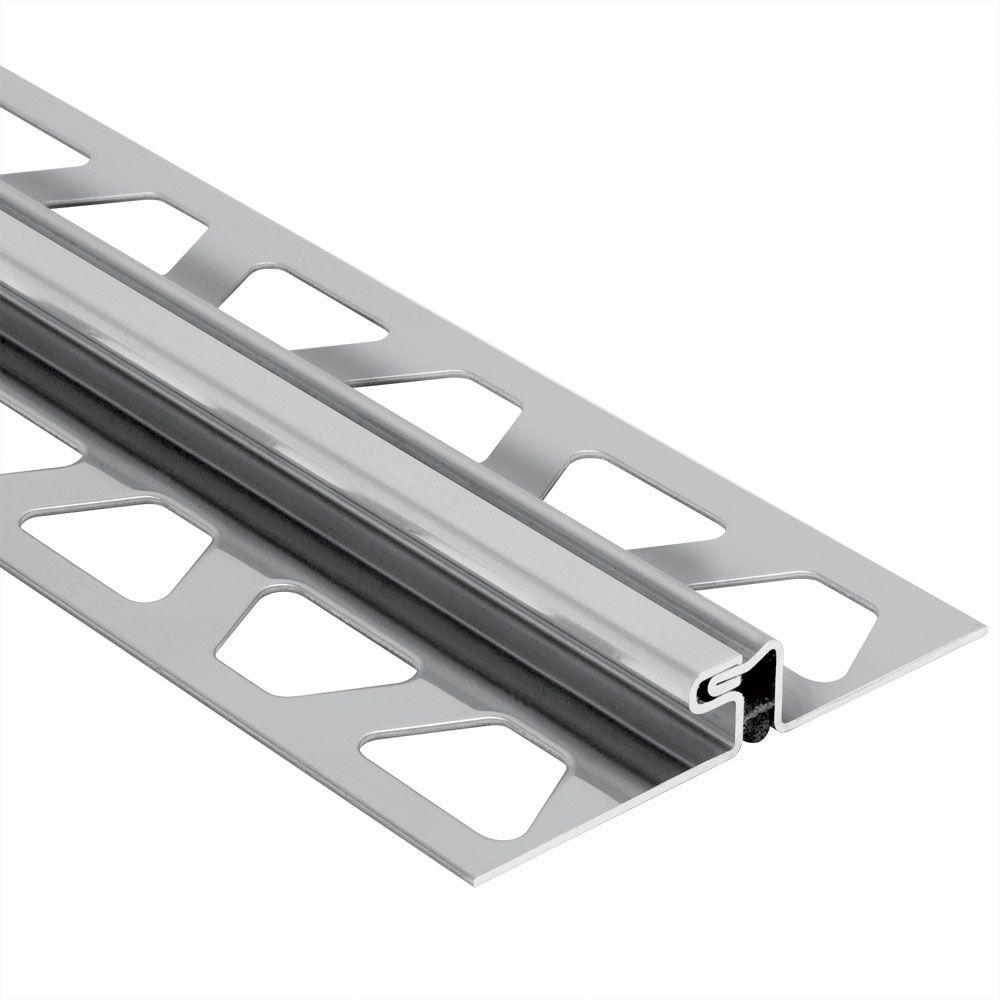 Schluter Dilex-EDP Stainless Steel 17/32 in. x 8 ft. 2-1/2 in. Metal Movement Joint Tile Edging Trim