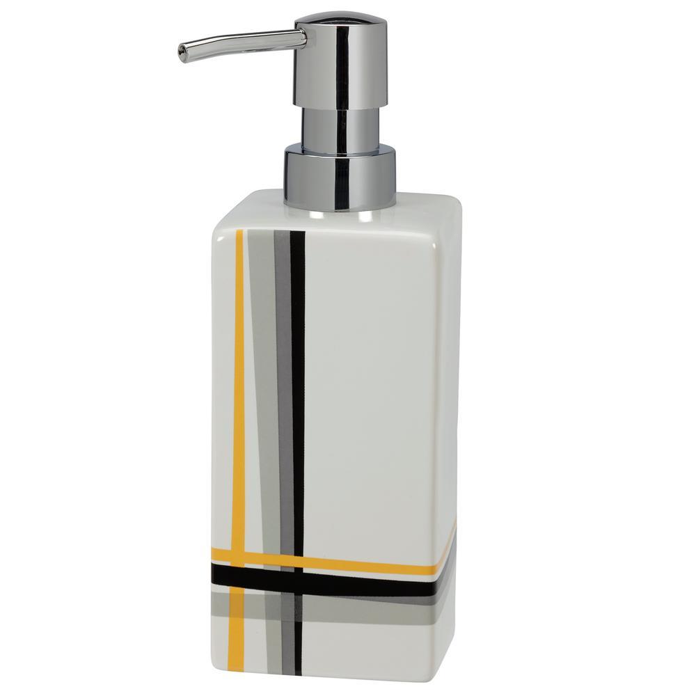 Modern Plaid Lotion/Soap Dispenser