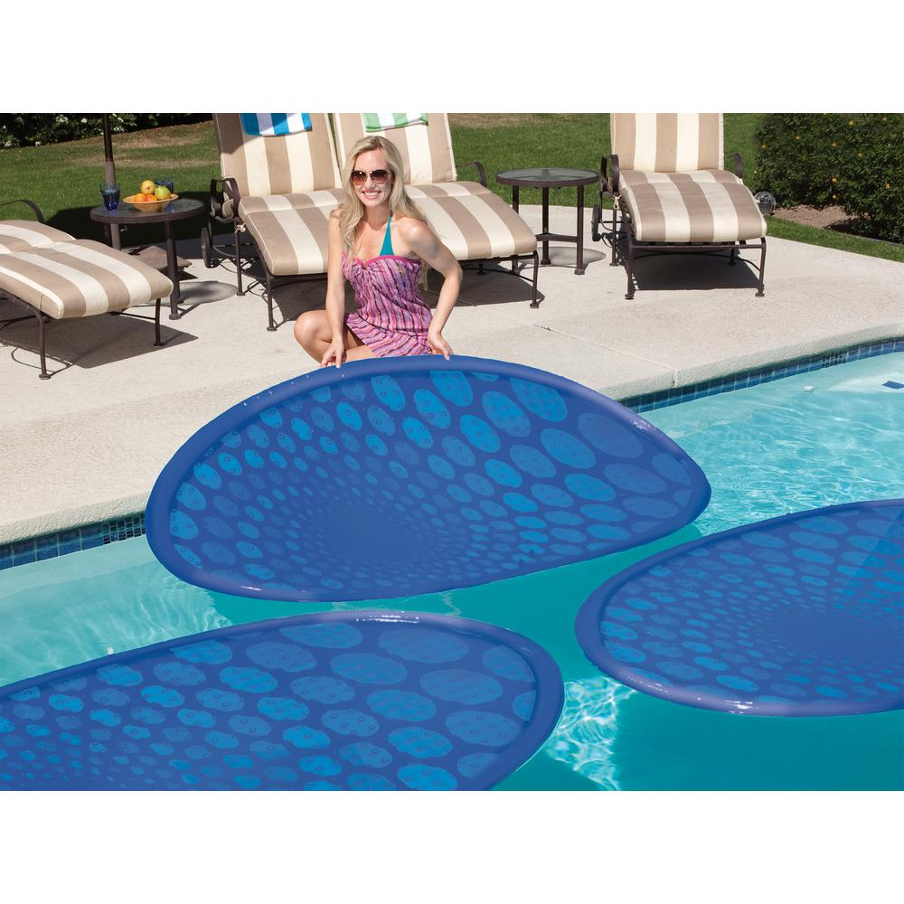 Swim Ways 66 in. x 37 in. Oval ThermaSpring Solar Mat Pool Blanket ...