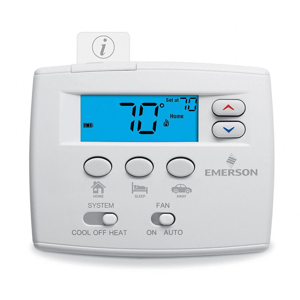 whites emerson non programmable thermostats 1f86ez 0251 64_1000 emerson blue easy set non programmable thermostat 1f86ez 0251 wiring diagram for a emerson up310 thermostat at eliteediting.co