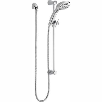 Temp2O 6-Spray Hand Shower with Wall Bar in Chrome
