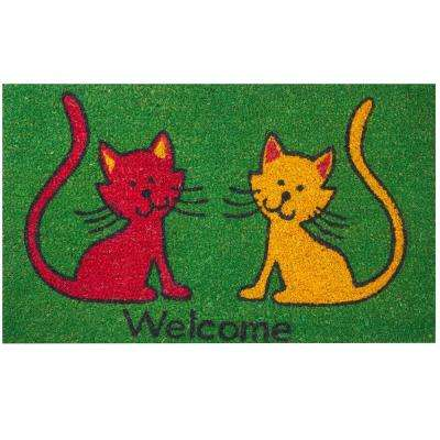 Cats 30 in. x 18 in. Coir Door Mat