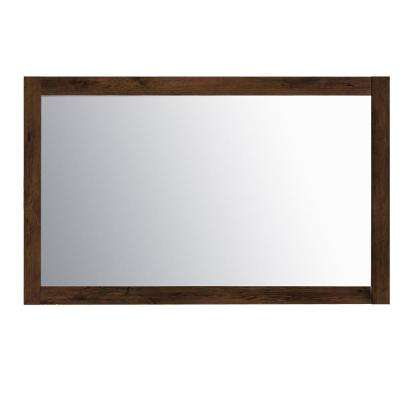 Sun 49.30 in. W x 31.61 in. H Framed Wall Mounted Vanity Bathroom Mirror in Rosewood