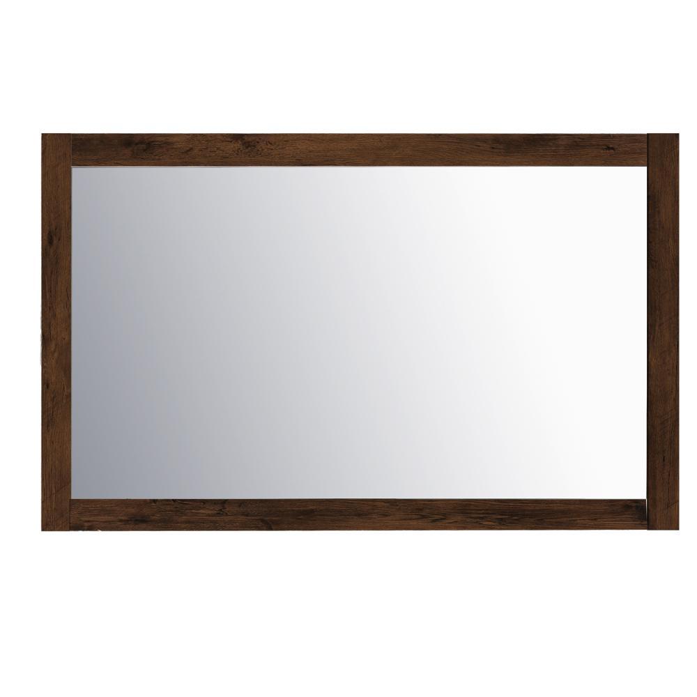 Sun 48 in. W x 30 in. H Framed Rectangular Bathroom Vanity Mirror in Rosewood