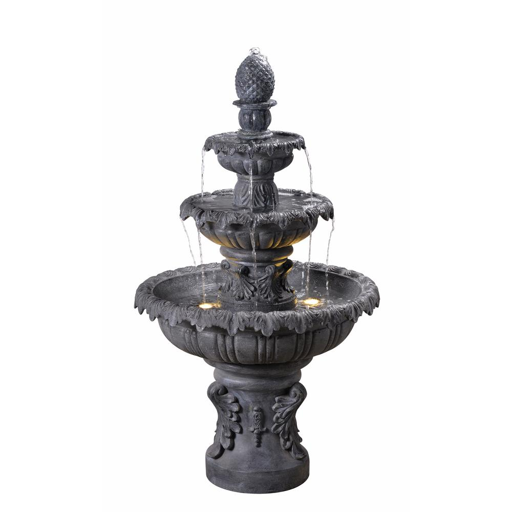 Outdoor Water Fountains Home Depot: Kenroy Home Ibiza Resin Outdoor Fountain-51010ZC