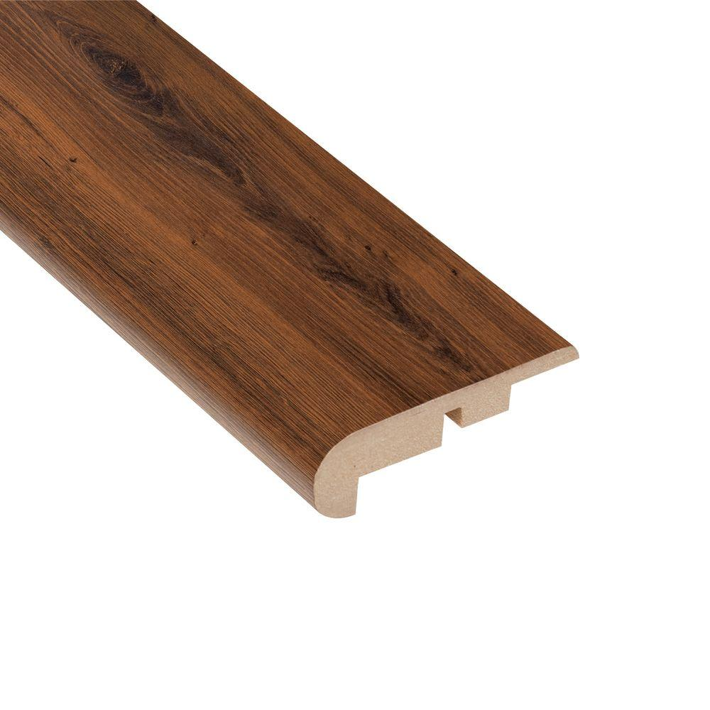 Home Legend Carmel Canyon Oak 7 16 In Thick X 2 1 4 Wide 94 Length Laminate Stair Nose Molding Hl1018sn The Depot