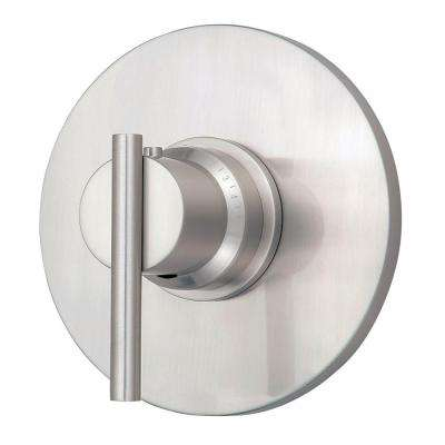 Parma 3/4 in. Thermostatic Shower Trim Only in Brushed Nickel (Valve Not Included)