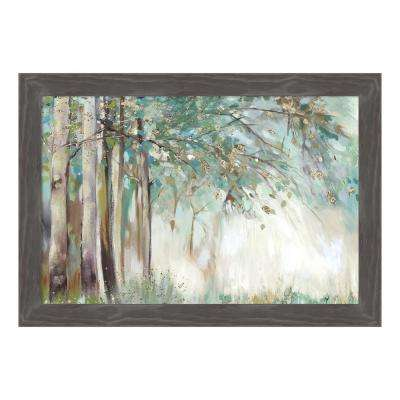 """Silver Leaves"" by Allison Pearce Framed Canvas Wall Art"
