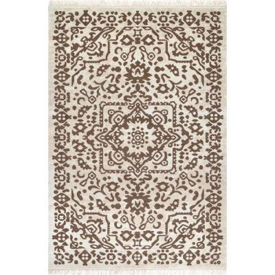 Shawna Medallion Beige 8 ft. x 10 ft. Indoor/Outdoor Area Rug