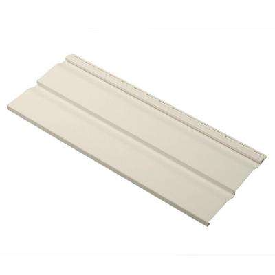 Dimensions Double 4.5 in. x 24 in. Dutch Lap Vinyl Siding Sample in Almond