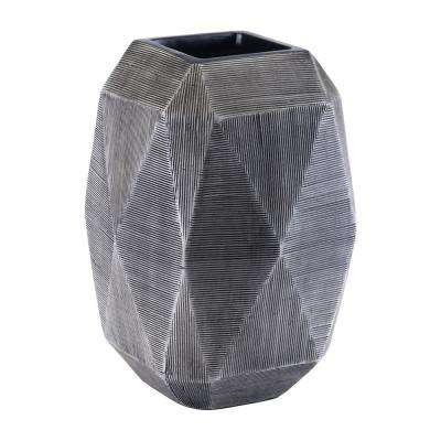 Gray Brick Large Decorative Vase