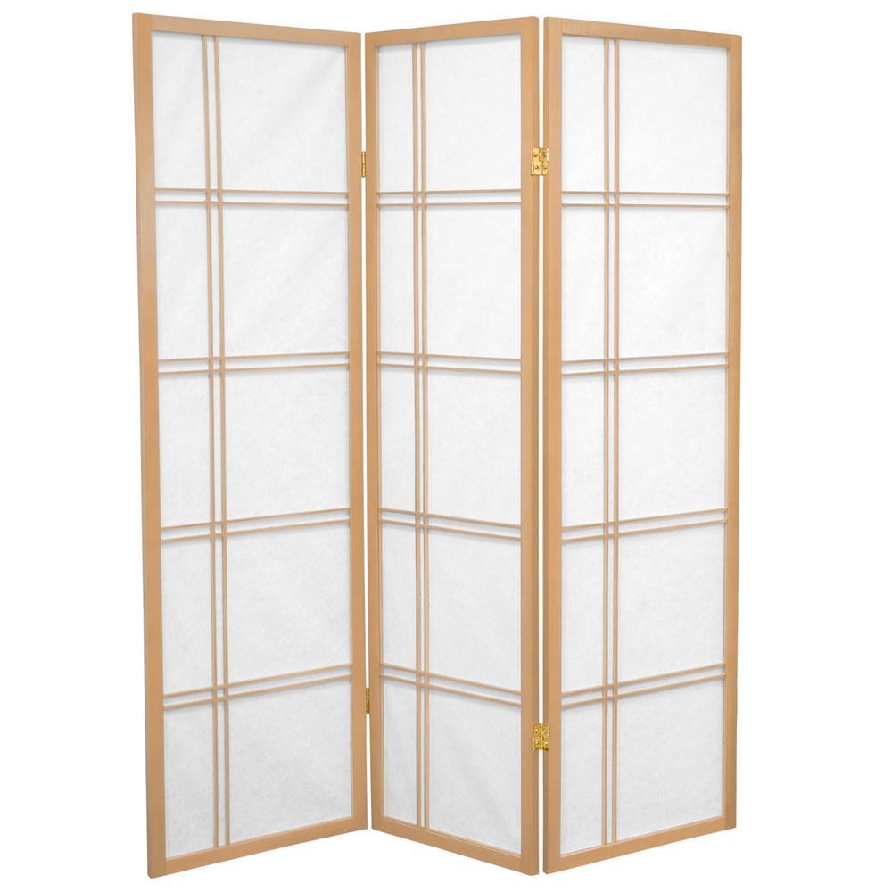 5 ft. Natural 3-Panel Room Divider