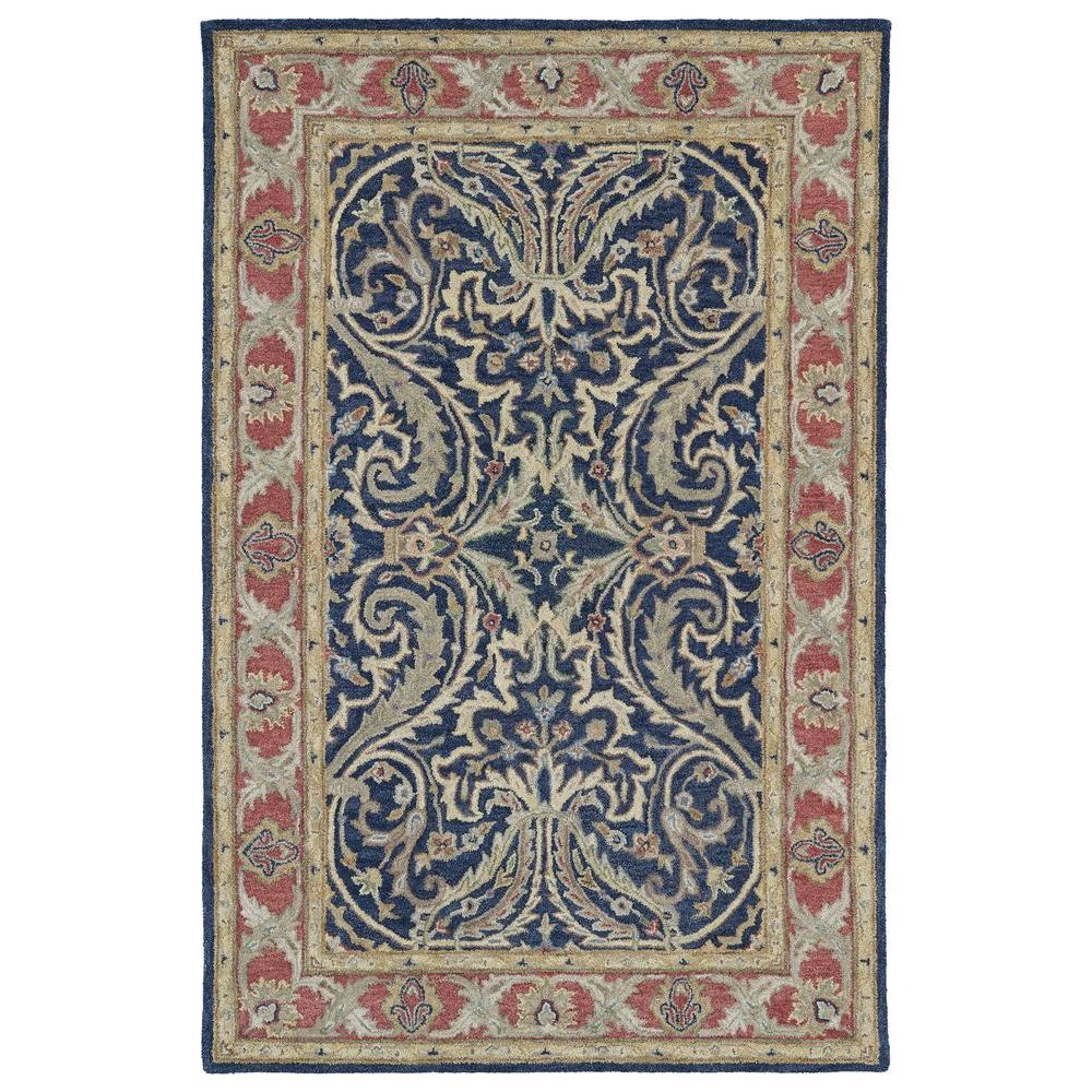 Kaleen Solomon Tyre Blue 8 ft. x 10 ft. Area Rug