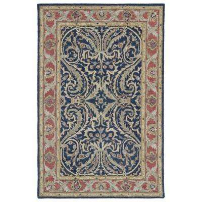 Solomon Tyre Blue 9 ft. x 12 ft. Area Rug