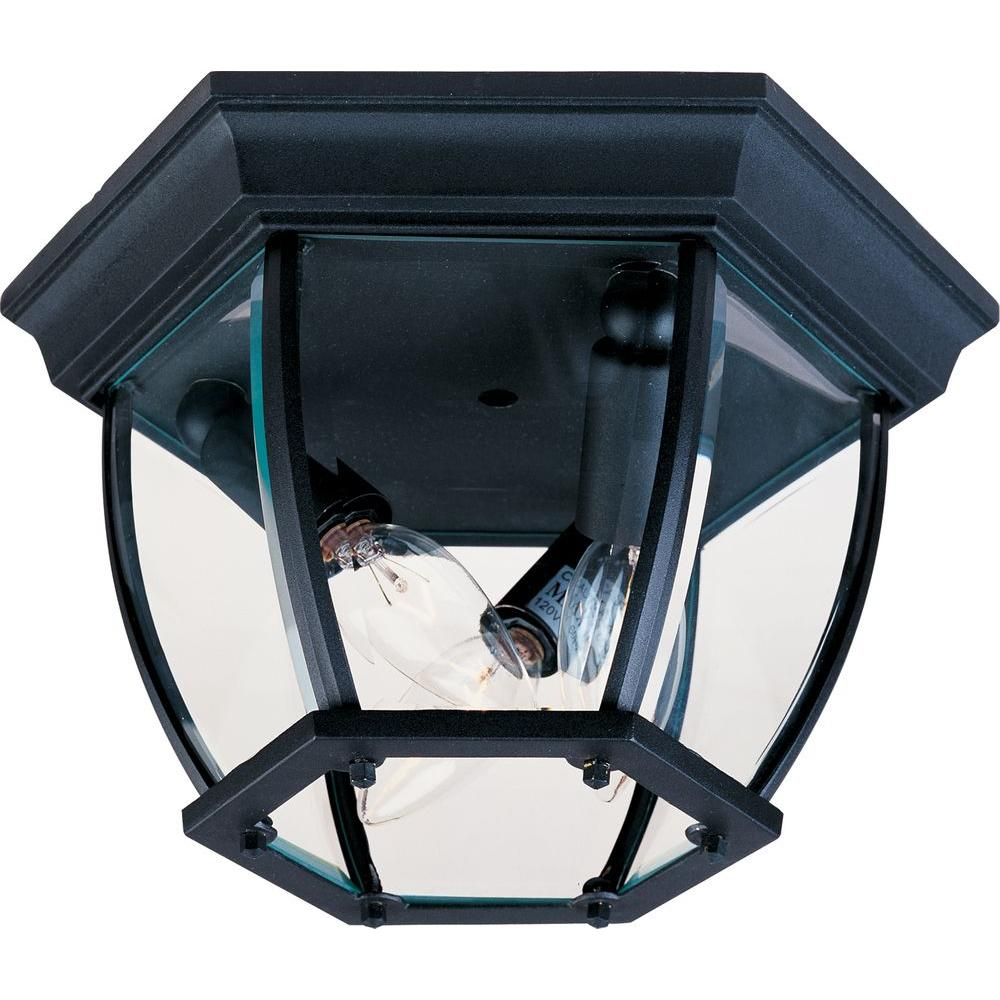 Maxim Lighting Maxim 3-Light Black Outdoor Flushmount