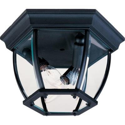 Maxim 3-Light Black Outdoor Flushmount