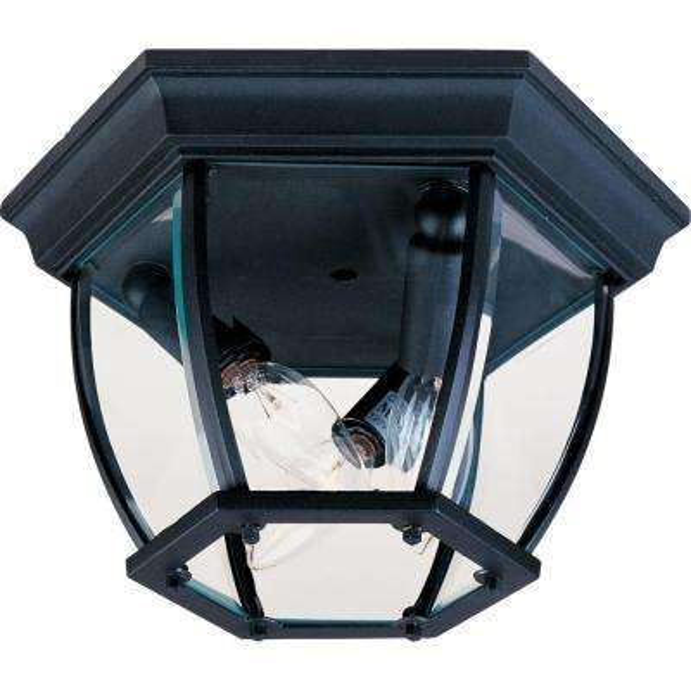 Maxim 3-Light Black Outdoor Flushmount