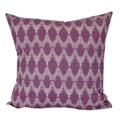 Peace Purple Geometric 16 in. x 16 in. Throw Pillow
