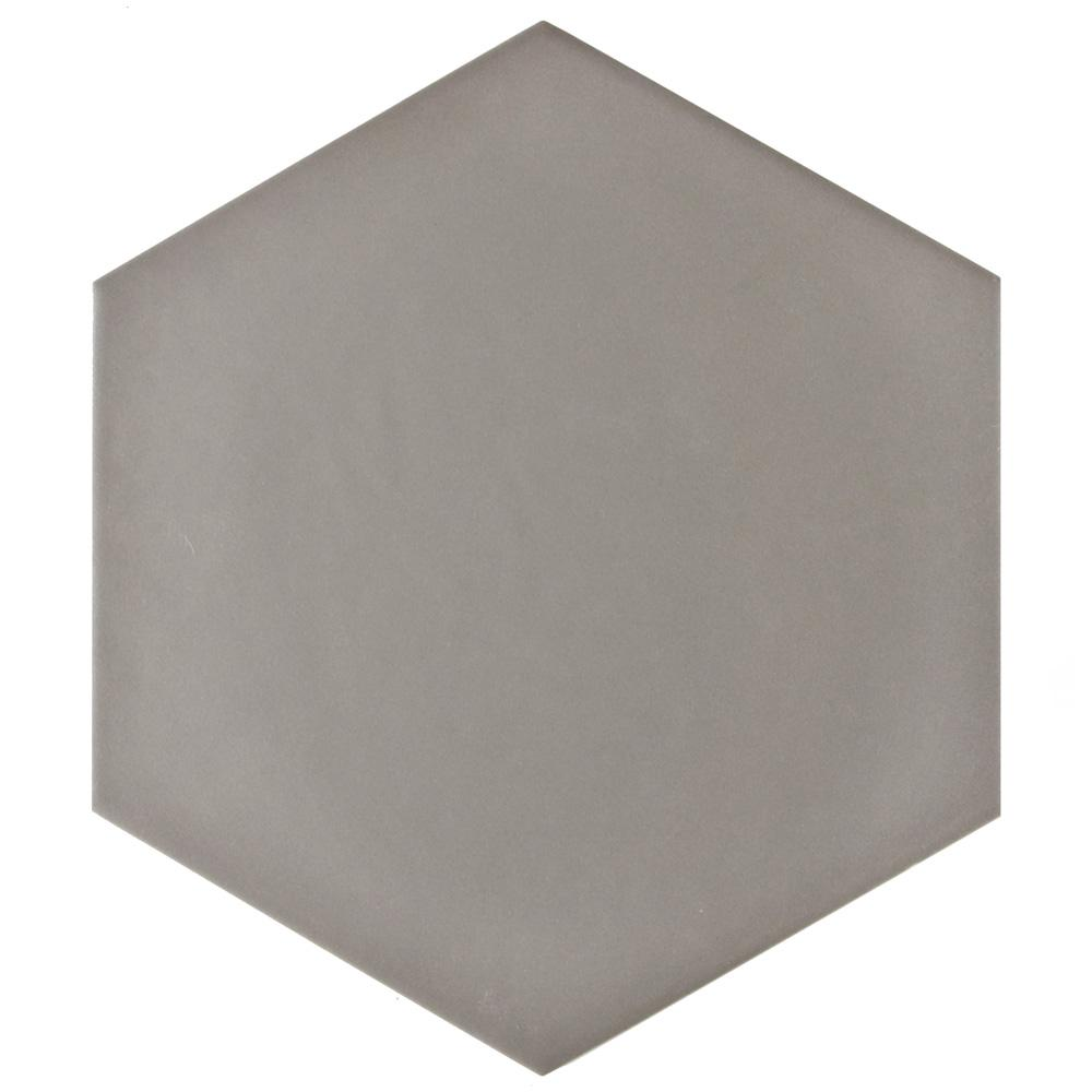 Merola Tile Hexatile Matte Gris 7 in. x 8 in. Porcelain Floor and Wall Tile (2.2 sq. ft. / Pack)
