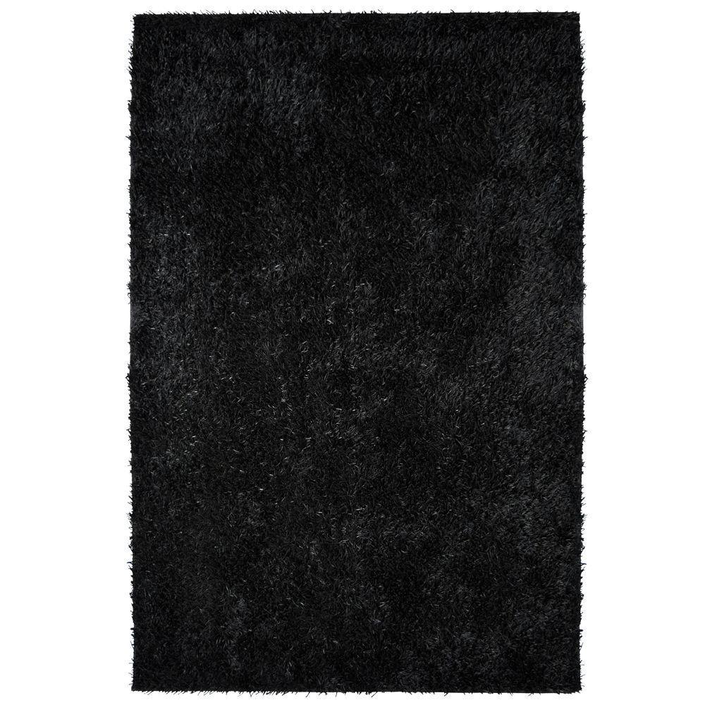 City Sheen Black 8 ft. x 11 ft. Area Rug