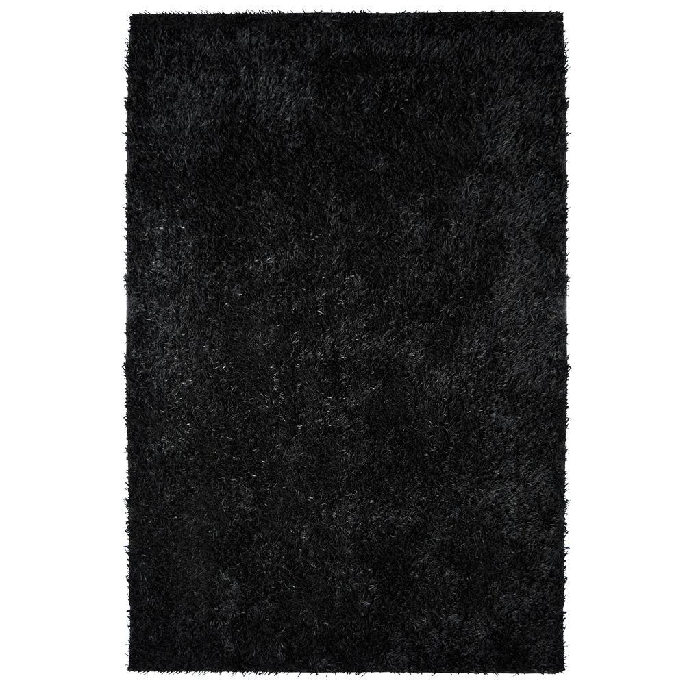 Home Decorators Collection City Sheen Black Polyester 9 ft. x 12 ft. Area Rug