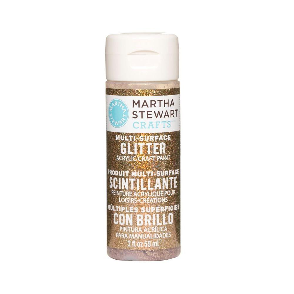 Martha Stewart Crafts 2-oz. Sunstone Multi-Surface Glitter Acrylic Craft Paint