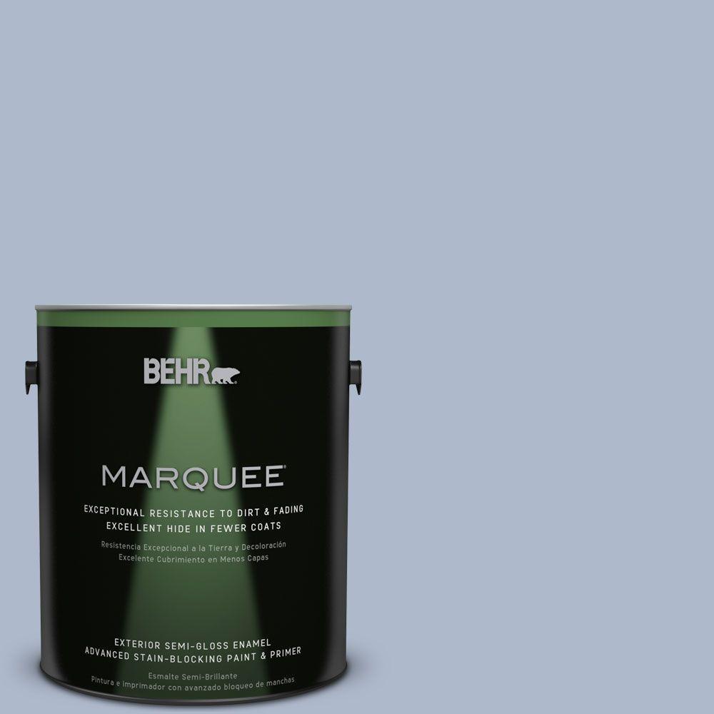 BEHR MARQUEE 1-gal. #PPU15-16 Simply Blue Semi-Gloss Enamel Exterior Paint