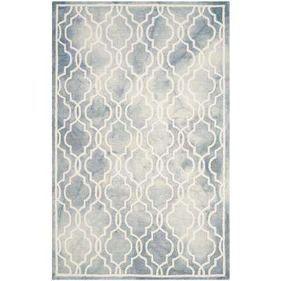 Dip Dye Gray/Ivory 5 ft. x 8 ft. Area Rug