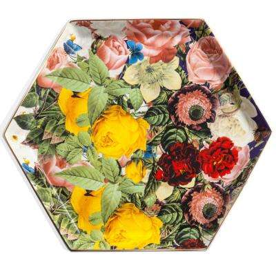 Seven Sisters Porcelain Floral Hexagon Tray