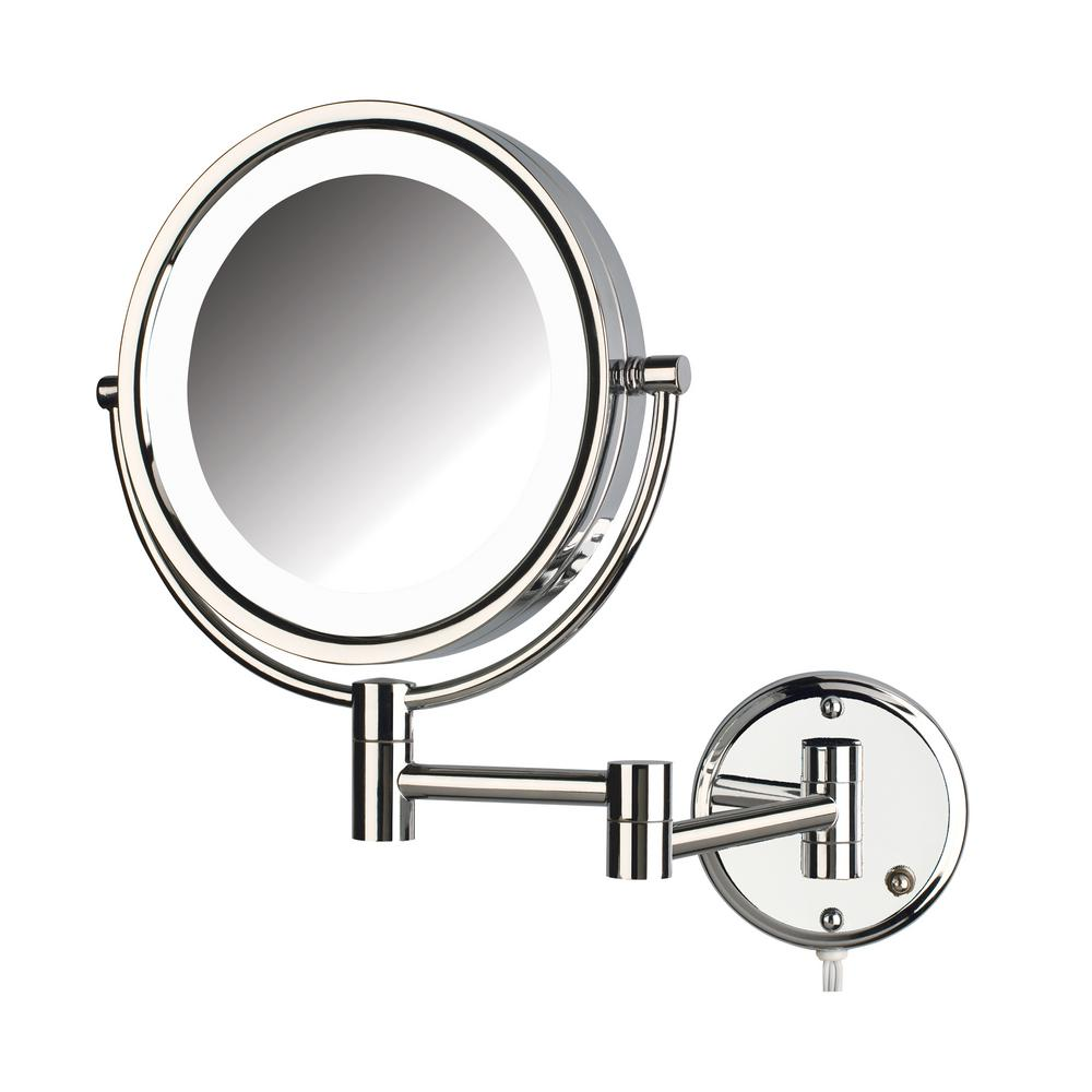 Jerdon 10 5 in x 14 5 in led lighted wall mirror hl88cl for 4 x 5 wall mirror